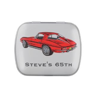 Classic Corvette Design Party Favor Candy Tin