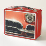 "Classic Corvette Lunchbox<br><div class=""desc"">My friend's classic retro red Corvette graces both sides of this retro lunchbox. Your kids will love it,  but you might just love it more, </div>"