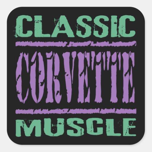 Classic Corvette Muscle Stickers