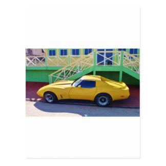 Classic Corvette Stingray. Postcard