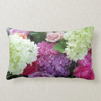 Classic Cottage Garden Flower Rose Hydrangea Peony Pillow