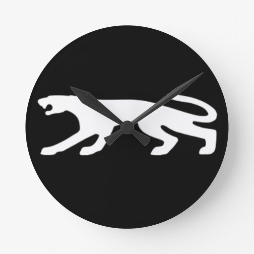 Classic Cougar V2 Round Wall Clock
