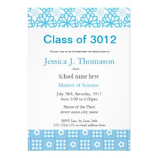 Classic country style floral and plaids graduation custom invitations