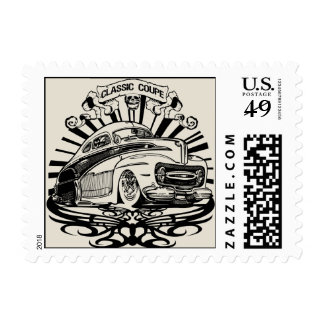 Classic Coupe Postage Stamps
