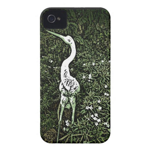 Classic crane floral garden iphone 4 case