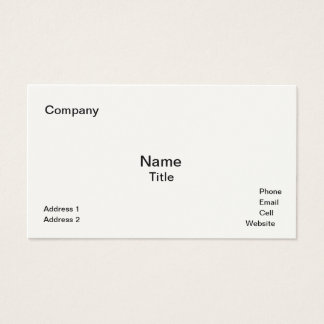 Classic Cream-Colored  Business Cards Template