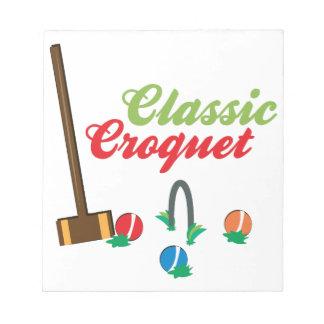 Classic Croquet Memo Note Pad