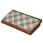 Classic Crossed Plaid Checked Tartan Pattern Wallets
