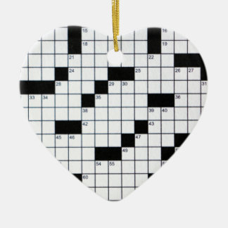 Classic Crossword Grid Christmas Ornament