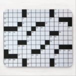 Classic Crossword Puzzle Grid mousepad