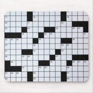 Classic Crossword Puzzle Grid mousepad