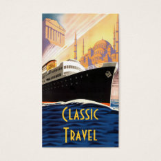 Classic Cruise Ship Travel Business Card at Zazzle
