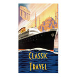 Classic Cruise Ship Travel Business Card