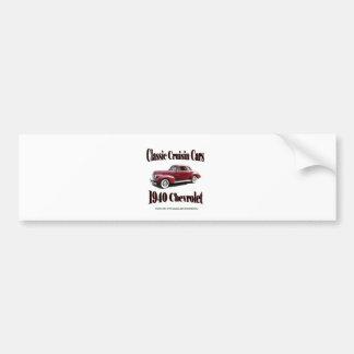 Classic Cruisin Cars 1940 Chevrolet Bumper Sticker