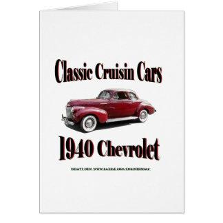 Classic Cruisin Cars 1940 Chevrolet Card
