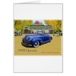 Classic Cruisin Cars 1941 Chevy Greeting Cards