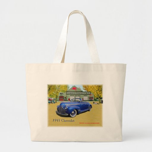 Classic Cruisin Cars 1941 Chevy Tote Bags