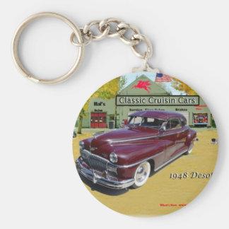 Classic Cruisin Cars 1948 Desoto Basic Round Button Keychain