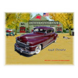 Classic Cruisin Cars 1948 Desoto Post Cards