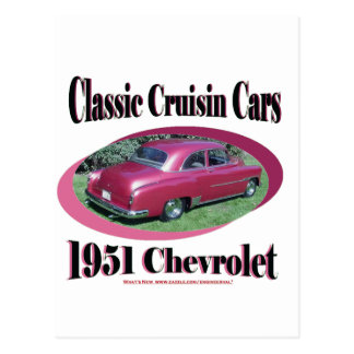 Classic Cruisin Cars 1951 Chevrolet Postcard
