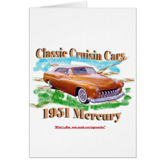 Classic Cruisin Cars 1951 Mercury Card
