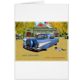 Classic Cruisin Cars 1957 Chevrolet Blue Card
