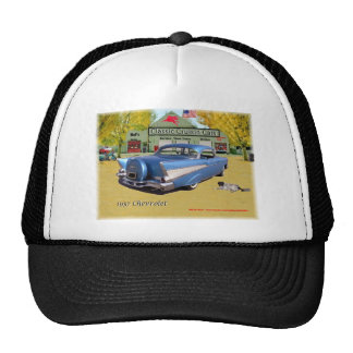 Classic Cruisin Cars 1957 Chevrolet Blue Trucker Hat
