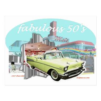 Classic_Cruisin_Cars_1957_Chevrolet. Postcard