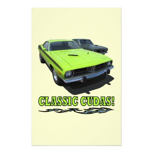 Classic Cudas Design Stationery Paper