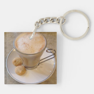 Classic Cup of Coffee in Trujillo Keychain