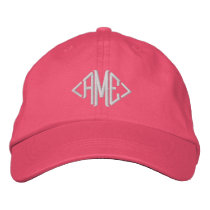 Classic Custom Monogram - Just add your initials Embroidered Baseball Hat