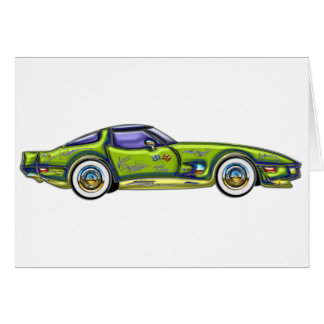 Classic Custom T-Top Corvette Card