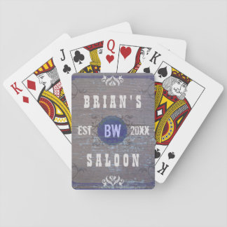 Classic Customizable Home Bar Beer Saloon Deck Of Cards