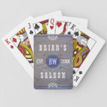 Classic Customizable Home Bar Beer Saloon Poker Cards