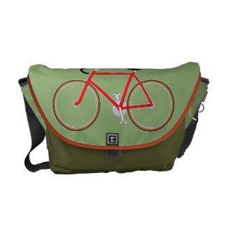 Classic Cyclist's Shoulder Bag - Olive Messenger Bag