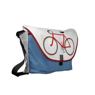 Classic Cyclist's Shoulder Bag - Red, White & Blue Messenger Bags