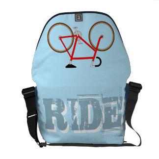 Classic Cyclist's Shoulder Bag - Sky Blue Courier Bags