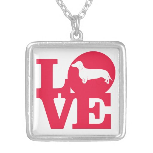 Classic Dachshund Love Necklace