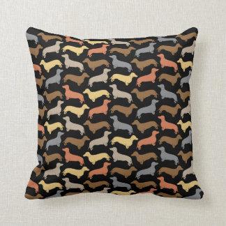 Classic Dachshund Silhouette Pillow