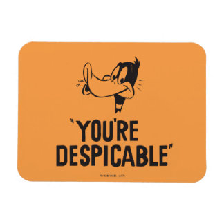 """Classic DAFFY DUCK™ """"You're Despicable"""" Magnet"""