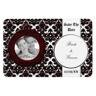 Classic Damask Hint of Red (Wedding) Magnet