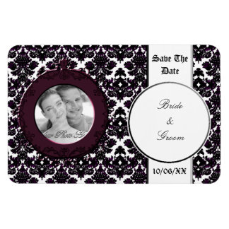 Classic Damask Hint of Violet (Save the Date) Magnet