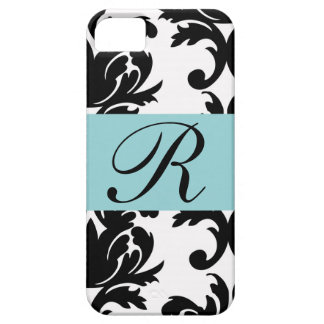 Classic Damask Pattern with Monogram iPhone SE/5/5s Case