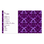 Classic Damask Purple Double-Sided Standard Business Cards (Pack Of 100)