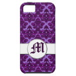 Classic Damask Purple (Monogram) iPhone 5 Cover