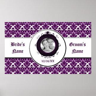 Classic Damask Purple (Wedding) Poster