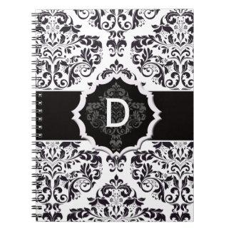 Classic Damask Spiral Notebooks