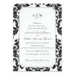 Classic Damask Wedding Invitation