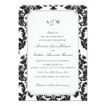 Classic Damask Wedding Invitation