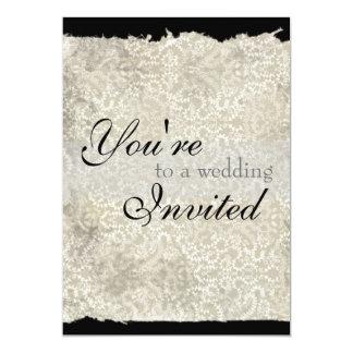 Classic Damask Wedding Invitations, Ebony Card